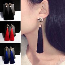 Women Bohemian Crystal Tassel Drop Dangle Earrings Wedding Party Jewelry Gift