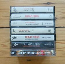 CHEAP TRICK 7 cassette tapes, 1st album, In Color, At The Budokan, Dream Police