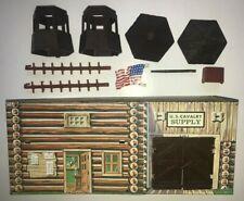 Vintage Marx 1970s Heritage Fort Apache Play Set Shoebox Cavalry Building