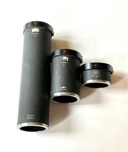 Zeiss Ikon Zeiss Extension Tube Set 5522/14, 5522/15, and 5522/13