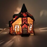 "Vintage Illuminated Christmas Village Country Church Lighted house 6"" Tall"