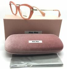 Miu Miu Peach Glitter on Gold / Eyeglasses VMU 04L KA4 WM6256