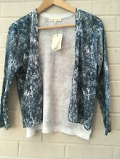NEW Retrology Fine Knit Cotton Wrap Around Buttonless Cardigan Size S Approx 10
