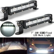 "2X 7inch 36W Slim Flood Beam LED Work Light Bar Driving Offroad Boat Truck 6"" Au"