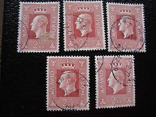 NORVEGE - timbre yvert et tellier n° 547 x5 obl (A30) stamp norway (A)