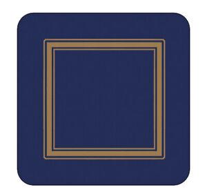 Pimpernel Classique Bleu Nuit sous-Verre Set 6 Uni Couleur Table Tapis Système