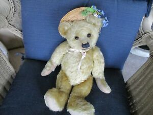 """18"""" Antique Fully Jointed Mohair Teddy Bear, Ca. 1920""""s"""