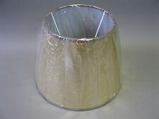 Lampenschirm aus Stoff im Landhausstil 19 cm hoch Golden