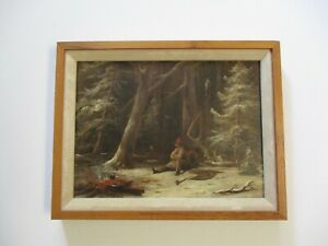 MYSTERY PAINTING 19TH CENTURY SMOKING INDIAN? PORTRAIT ESTATE HEIRLOOM OLD
