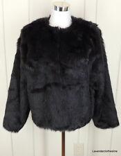 Ulla Popken 12 14 Faux Mink Fur Jacket Boxy Trendy Cocktail Wedding Career New