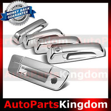 09-18 Dodge Ram 1500+2500+3500+HD Chrome 4 Door Handle+Tailgate W/Keyhole Cover