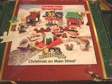 2003 Fisher Price Little People Christmas on Main Street in Box