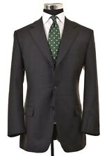 Hugo Boss Charcoal Gray Super 120 Wool Brushed Twill Sport Coat Jacket Blazer 44