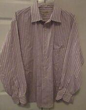 Tommy Bahama 100% Cotton Mens Long Sleeve Dress Shirt Size 17 34/35 Stripes