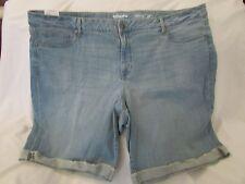 """Ladies """"Sonoma"""" 24W, Lt Wash(Blue), Mid Rise, Frayed,Rolled Cuff, Bermuda Shorts"""