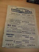 ILLUSTRATED LONDON NEWS OLD ANTIQUE MAGAZINE 1900S 10 FEBRUARY 1900 boer war