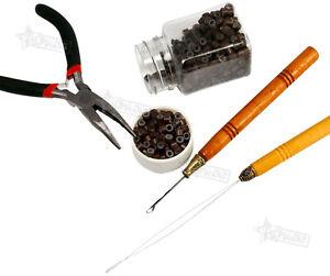 Salon Microring Studio Pack Haarverlängerung Harre Microrings Zange Nadel