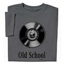 OLD SCHOOL T Shirt w Vinyl LP Record Album Photo Mens Short Sleeve XXL NEW
