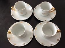 Warner Bros Looney Tunes After Six Demitasse Coffee Set of Four Cups & Saucers