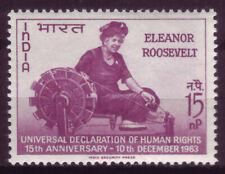 India 1963; Honoring Eleanor Roosevelt; Single; Sc # 379; Mint Never Hinged