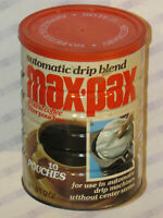 VINTAGE 1970s MAXWELL HOUSE 'MAX-PAX' SEALED COFFEE CAN/TIN! 12 OZ! 10 POUCHES!