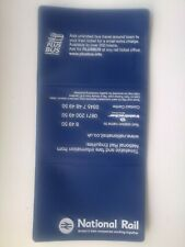 NATIONAL  RAIL  PLASTIC  TICKET  WALLET,  ( BLUE,) m1