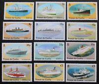 Ships stamps, 1994, Tristan da Cunha, SG ref: 553-564, 12 stamp set, MNH