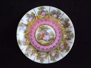 """JKW Josef Kuba Fragonard Love Story Victorian Courting Charger Plate Platter 12"""""""