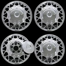 "4 New Century 15"" Bolt On Chrome Full Wheel Covers Rim Hub Caps Center Cap Hubs"