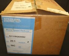 NEW STERLING WORM SPEED REDUCER S2133BQ020562, RATIO 20:1, NEW IN FACTORY BOX