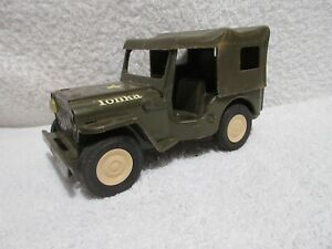 vintage Tonka Army Jeep with removeable roof & folding windshield lot D