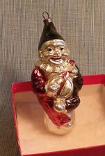 OLD GERMAN CLOWN PLAYING BANJO GLASS CHRISTMAS ORNAMENT