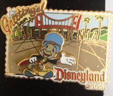 Disney Greetings Disneyland California 2006 Jiminy Cricket Pinocchio Pin NEW LE