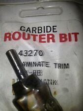 """New Old Stock Idustrial Carbide Tipped Router Bits 1/4"""" Shank"""