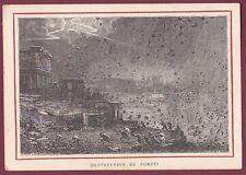 Chromo H. et Cie PARIS N° 28 MORT DE PLINE - destruction de POMPEI volcan
