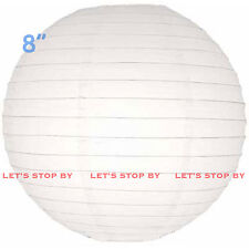 """10pc White 8"""" Paper Chinese Lantern Lamp Shade Wedding Party Decoration Supplies"""