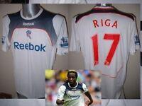 Bolton Wanderers RIGA Match Shirt Jersey Football Soccer Adult Large Reebok Worn