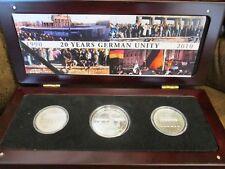 Berlin 20 Jahre Deutsche Wiedervereinigung 3 x Silbermünze 10 DM / 20 DDR- Mark
