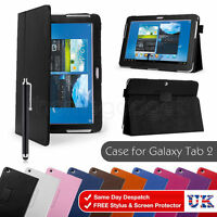 PU Leather Case Cover For Samsung Galaxy Tab 2 10.1 inch P5100 7.0 P3100 + Film