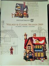 DEPARTMENT 56 VILLAGE & CLASSIC BRANDS 2009 CATALOG: HALLOWEEN, CHRISTMAS RARE