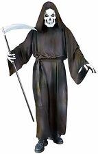 Erwachsene Herren 4 Pc Sensenmann+Maske Handschuhe Halloween Kostüm Kleid Outfit