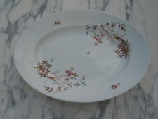 Plat porcelaine décor oiseaux branches fleuries d'époque 19ème
