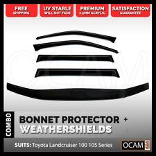 Bonnet Protector, Weathershields For Toyota Landcruiser 100 Series Visors