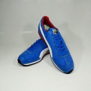 Mens Puma Whirlwind Retro Sneakers Trainers Royal Blue White Red 351293-44 Sz 14