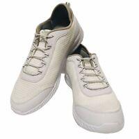 Tony Little Cheeks Tan White Fit Body Shape Knit Slip-on Trainer Sneakers Sz 11