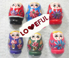 New Fashion Creative Wooden Russian Nesting Dolls Refrigerator Stickers Magnets