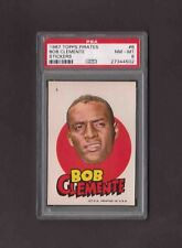 1967 Topps Pirates Stickers #6 ROBERTO CLEMENTE PSA 8 NM-MT Test issue BOB