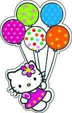 "Hello Kitty Balloons scrapbook bumper sticker wall decor vinyl decal, 6""x4"""