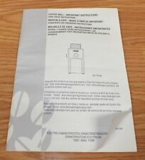 *Replacement* Manual For Genuine Delonghi KG89 Burr Coffee Grinder