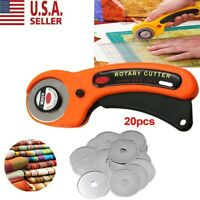 20PCS Rotary Cutter Refill Blades 45mm Quilters Sewing Fabric Cutting Tools US